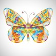 Beautiful abstract butterfly. — Stock Vector