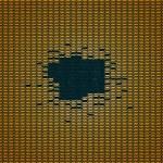 Golden fabric seamless pattern — Stock Vector