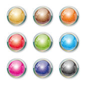 Set with buttons. — Stock Vector