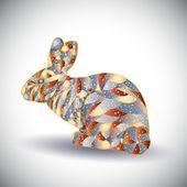 Abstracte kleurrijke konijn. — Stockvector