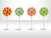 Vector illustration with candy. — Stock Vector