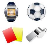 Football set. — Stock Vector