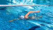 Young female swimmer — Stock Photo