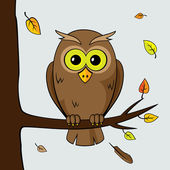 Lonely owl — Stock Vector
