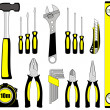 Tool set - Stock Vector