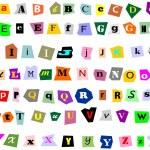Collage Alphabet — Stock Vector