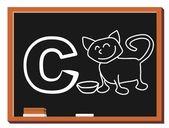 Alfabeto animali c — Vettoriale Stock
