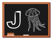 Alfabeto animal j — Vector de stock