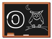Animal alphabet O — Stock Vector