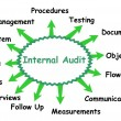 Internal audit concept — Stockvektor