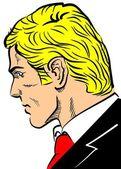 Head of blond man — Stock Vector