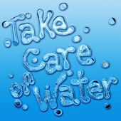 Take care of water — Stock Photo