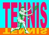 Tennis player poster — Stock Vector