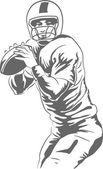 Jugador de fútbol americano — Vector de stock