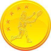 Tennis Gold Medal — Stock Vector