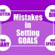 Stock Vector: Mistakes in setting goals