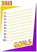 2013 goals — Stock Vector