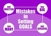 Mistakes in setting goals — Stock Vector