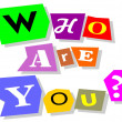 Stock Vector: Who are you?