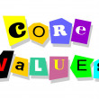 Core values — Stockvectorbeeld