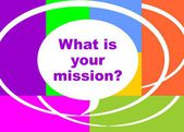 What is your mission? — Stock Vector
