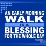 Постер, плакат: An early morning motivational phrase