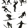 Sports Set - silhouettes — 图库矢量图片