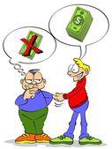 Pożyczanie pieniędzy — Wektor stockowy