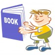Book kid - illustration — Stock Vector