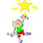 Star boy - illustration — Stock Vector #30822761