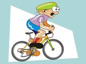 Competing cyclist — Stock Vector