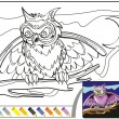 Постер, плакат: Coloring Book Sketch: The night owl