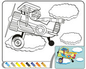 Coloring Book Sketch: The Aviator — Stock Vector
