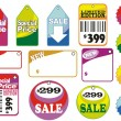 Sale labels — Stock Vector #33543271