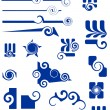 Stock Vector: Ornaments and shapes for design