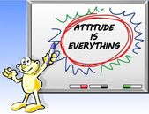 Attitude is everything in whiteboard — 图库矢量图片