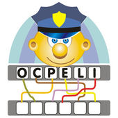 Word game with the police — Stock Vector