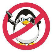 Stop Penguin — Stock Vector