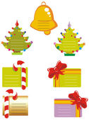 Collection of Christmas cards — Stock Vector