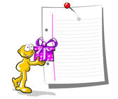 Man giving a gift — Stock Vector