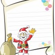 Writing a letter to santa — Stock Vector