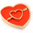 Stock Photo: Golden heart cupido arrow