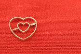 Gold heart valentines — Zdjęcie stockowe