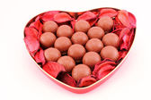 Chocolates for san valentine — Stock Photo