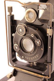 Old photographic camera closeup — Stock Photo