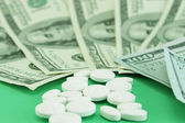 High cost of medicines — Stock Photo