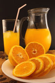 Juice of fresh oranges — Stock Photo