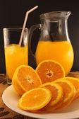 Juice of fresh oranges — Stock Photo