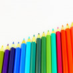 Diagonal set of color pencils — Stock Photo #49708647
