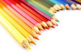 Färg pennor vågig form — Stockfoto